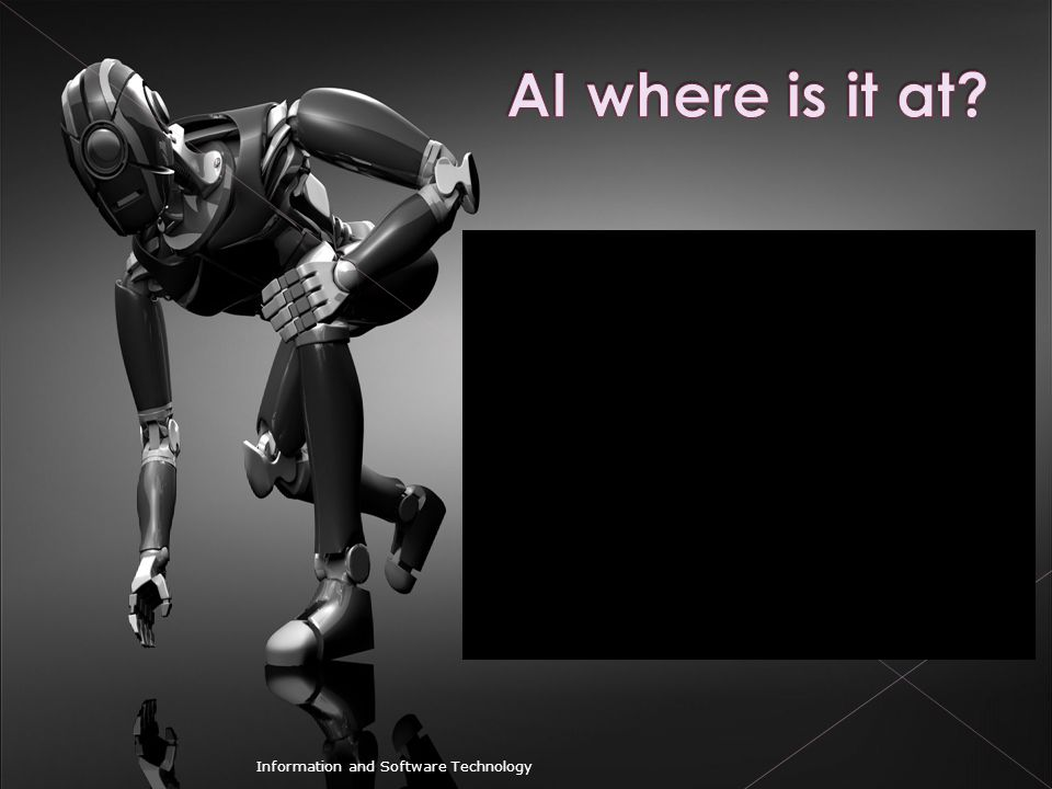 AI where is it at Information and Software Technology