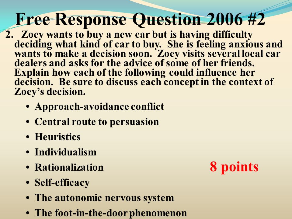 Free Response Question 2006 #2