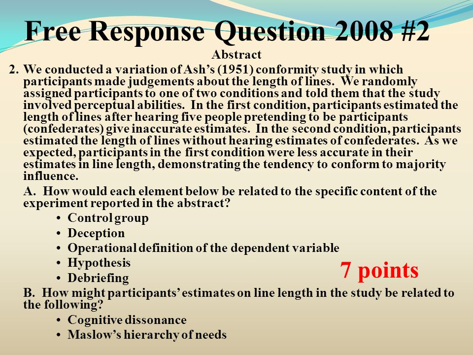 Free Response Question 2008 #2