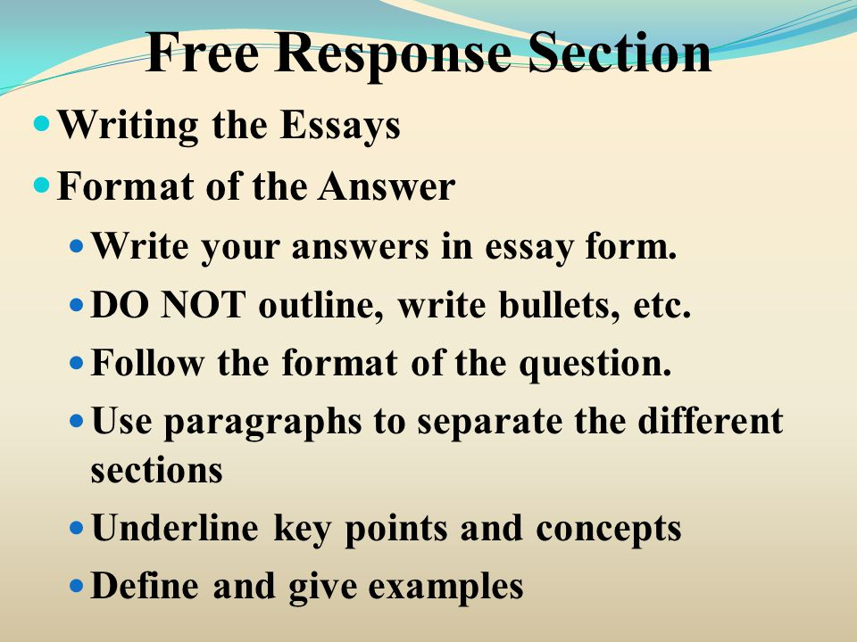 different essay writing formats