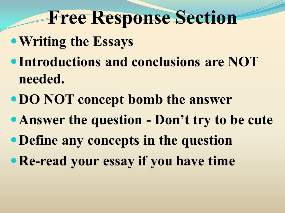 Concept Essays