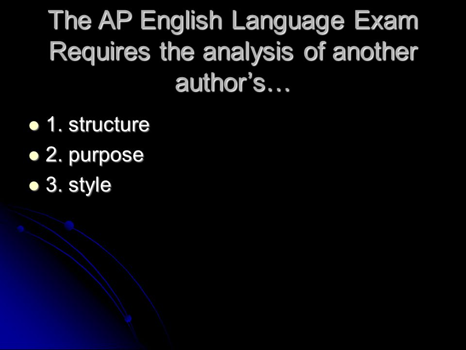 The AP English Language Exam Requires the analysis of another author's…