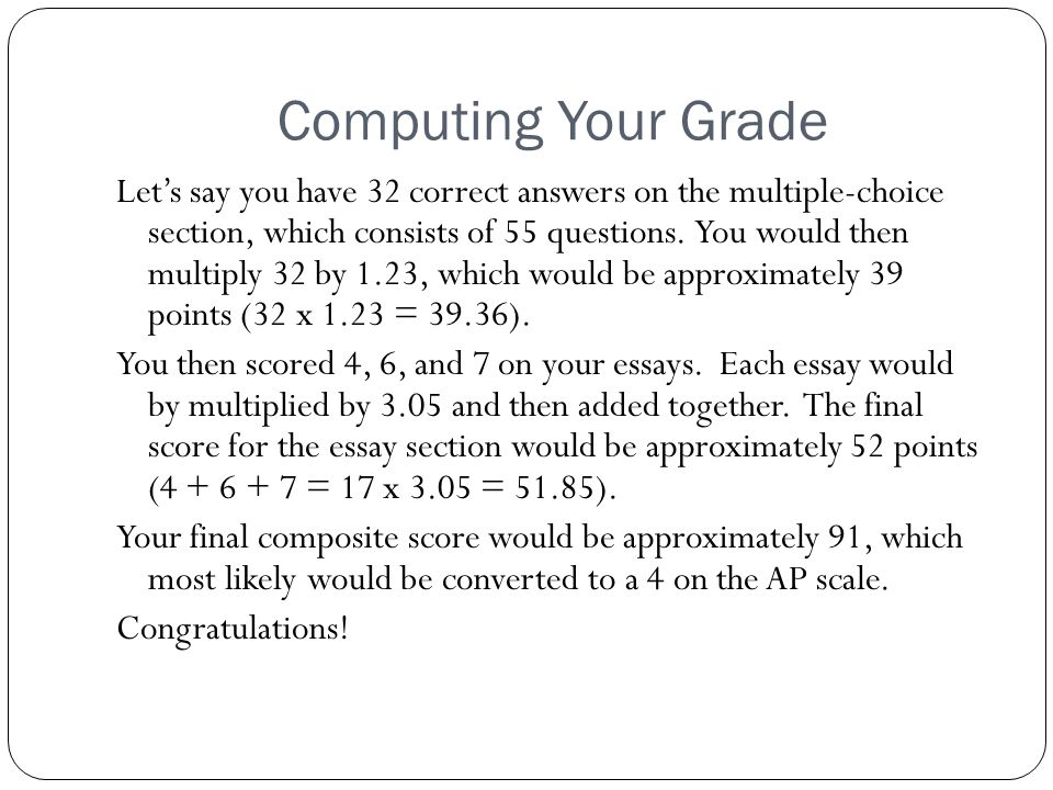 Computing Your Grade