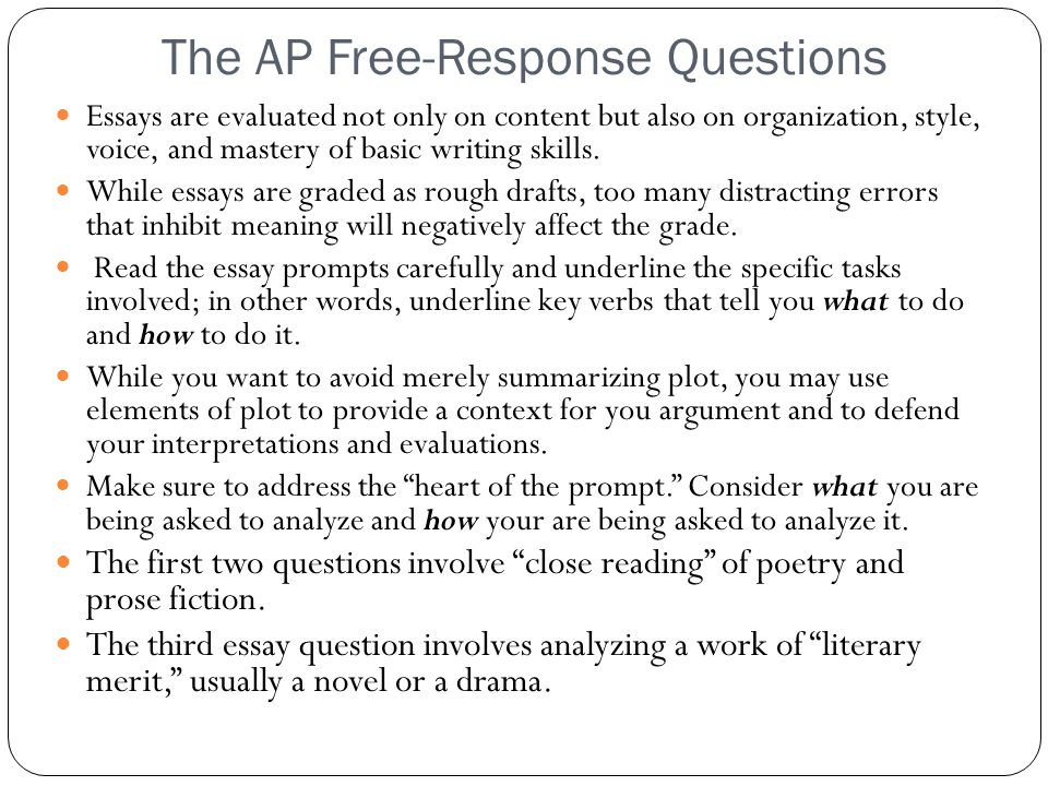 The AP Free-Response Questions