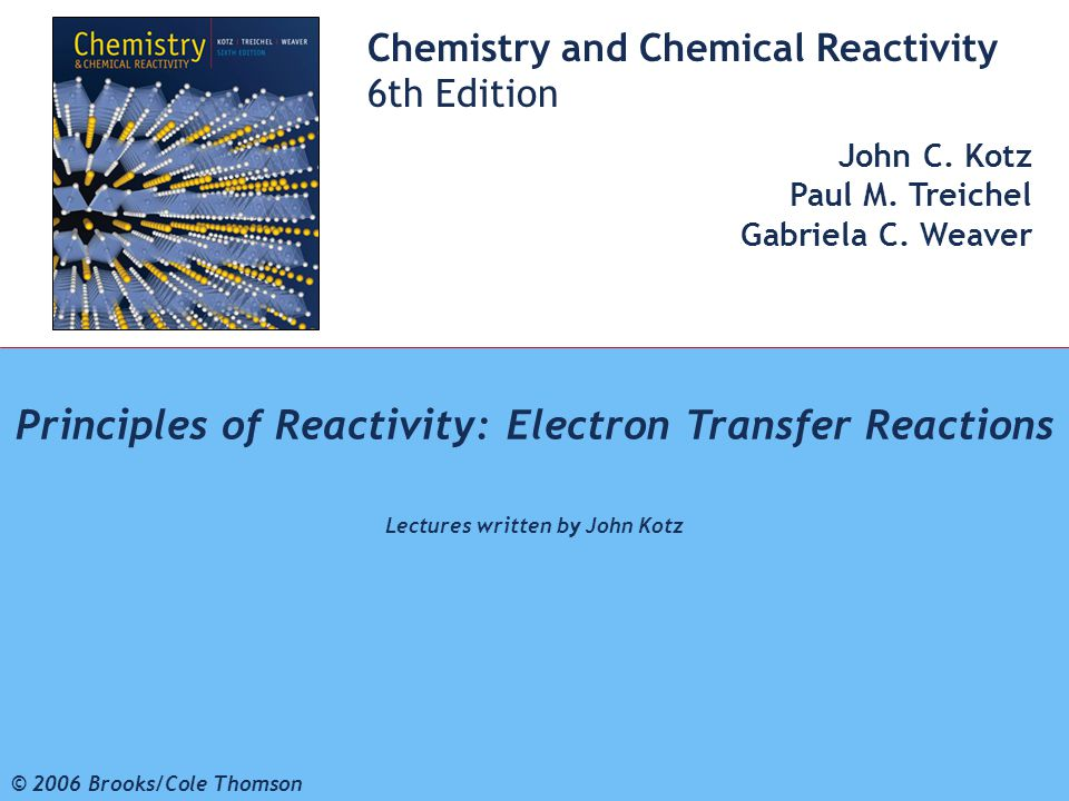 Principles of Reactivity: Electron Transfer Reactions
