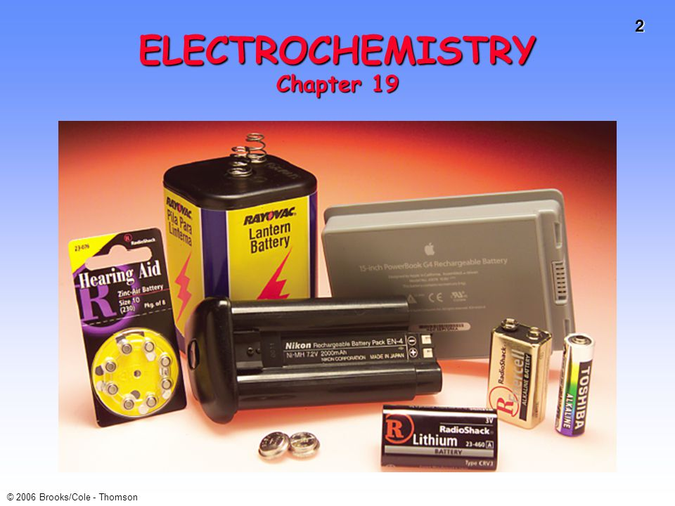 ELECTROCHEMISTRY Chapter 19