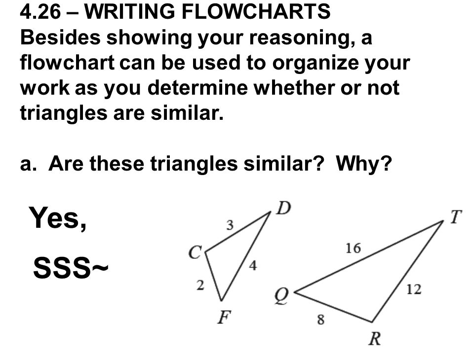 Yes, SSS~ 4.26 – WRITING FLOWCHARTS