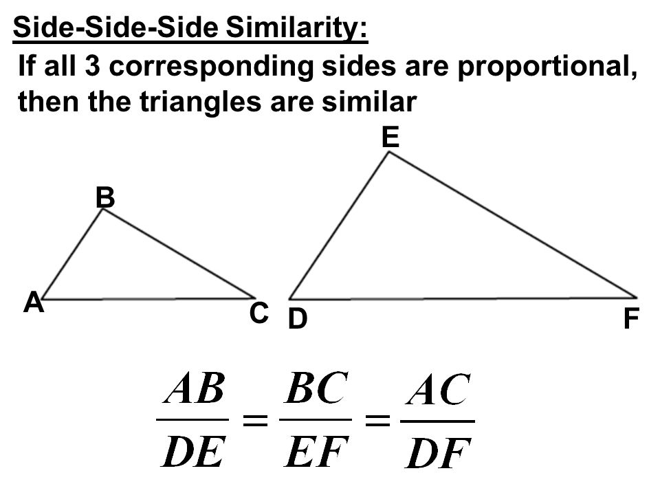 Side-Side-Side Similarity: