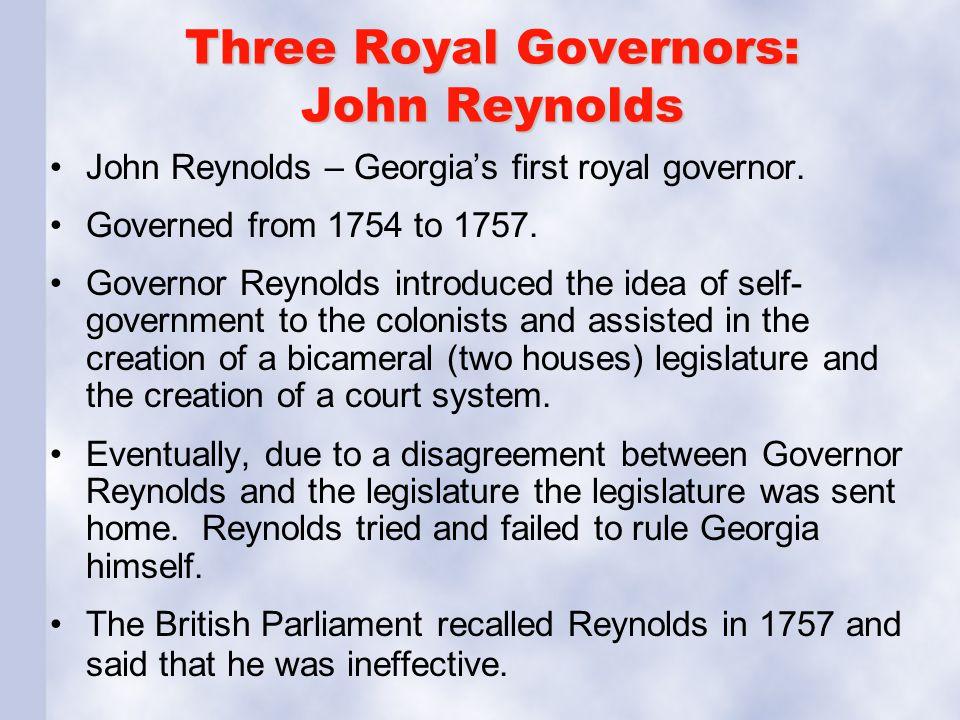 Three Royal Governors: John Reynolds