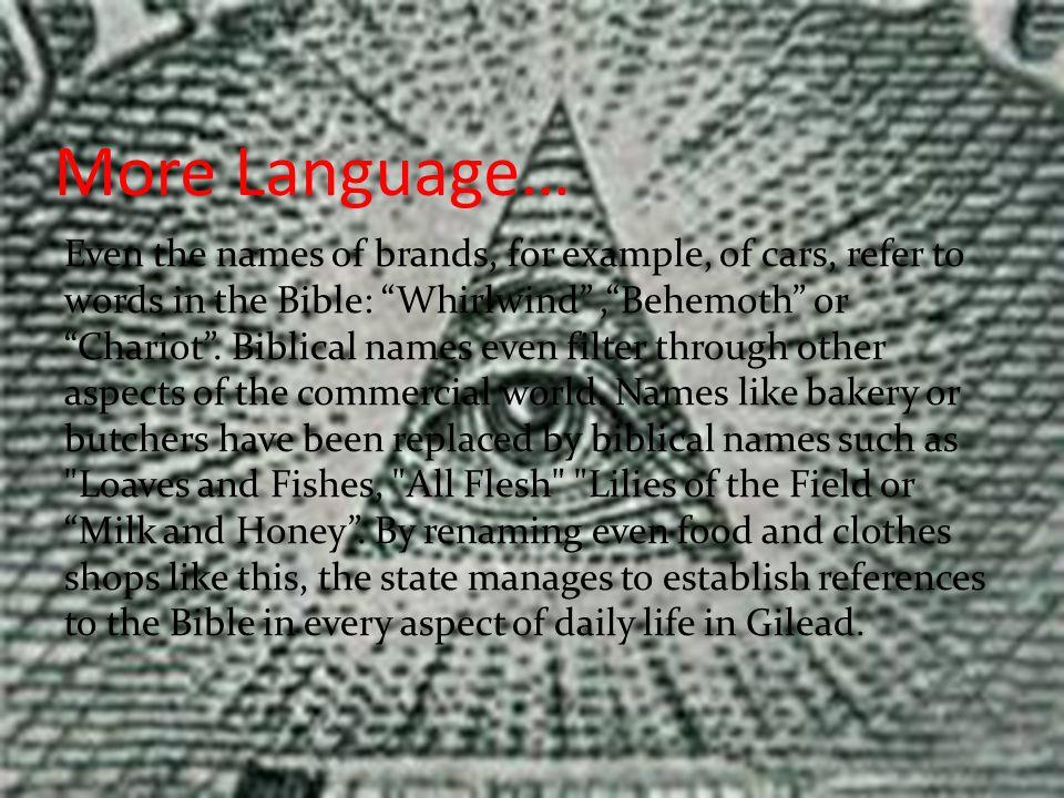 More Language…
