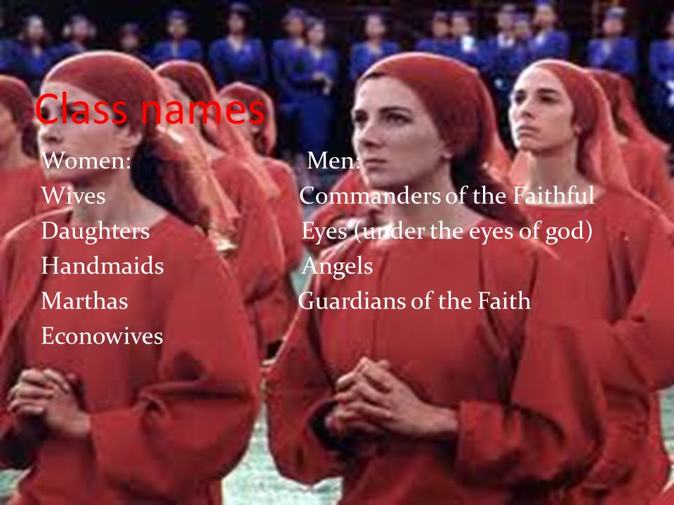 Class names Women: Men: Wives Commanders of the Faithful