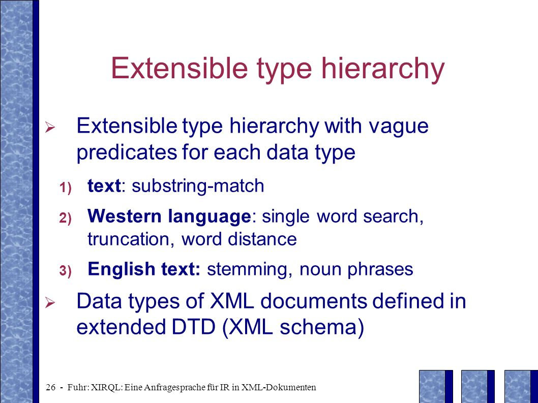 Extensible type hierarchy