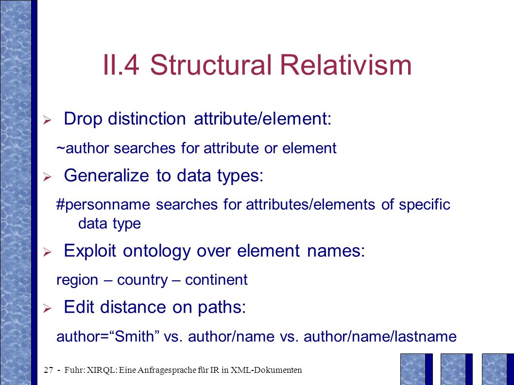 II.4 Structural Relativism