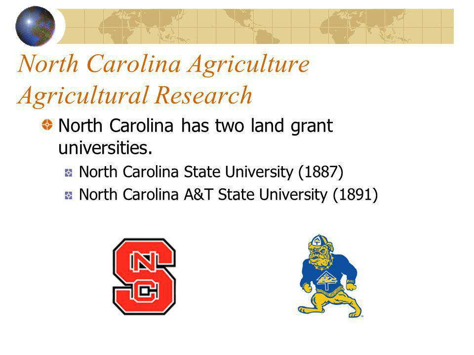 North Carolina Agriculture Agricultural Research