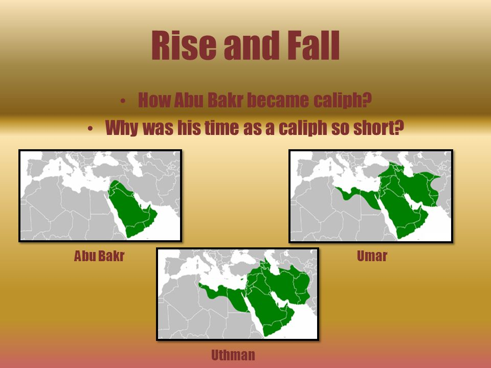 Rise and Fall How Abu Bakr became caliph