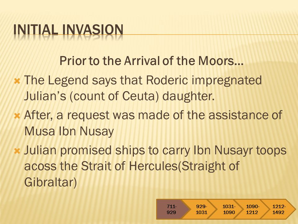 Prior to the Arrival of the Moors…