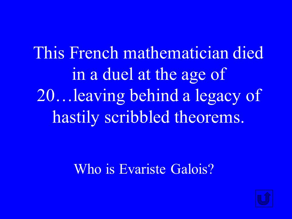 This French mathematician died in a duel at the age of 20…leaving behind a legacy of hastily scribbled theorems.