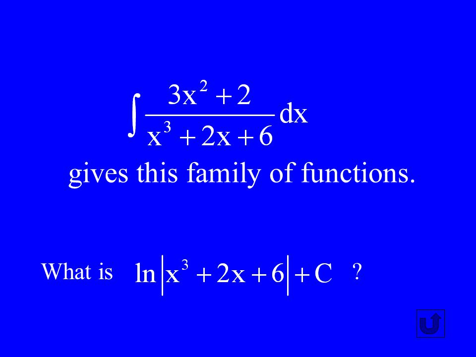 gives this family of functions.