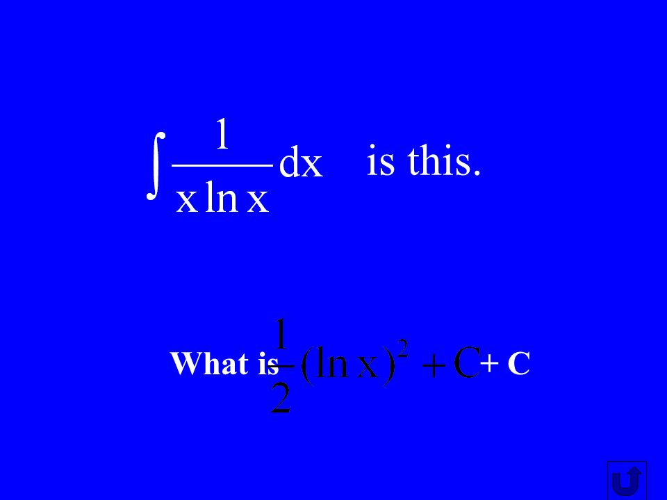 is this. What is + C