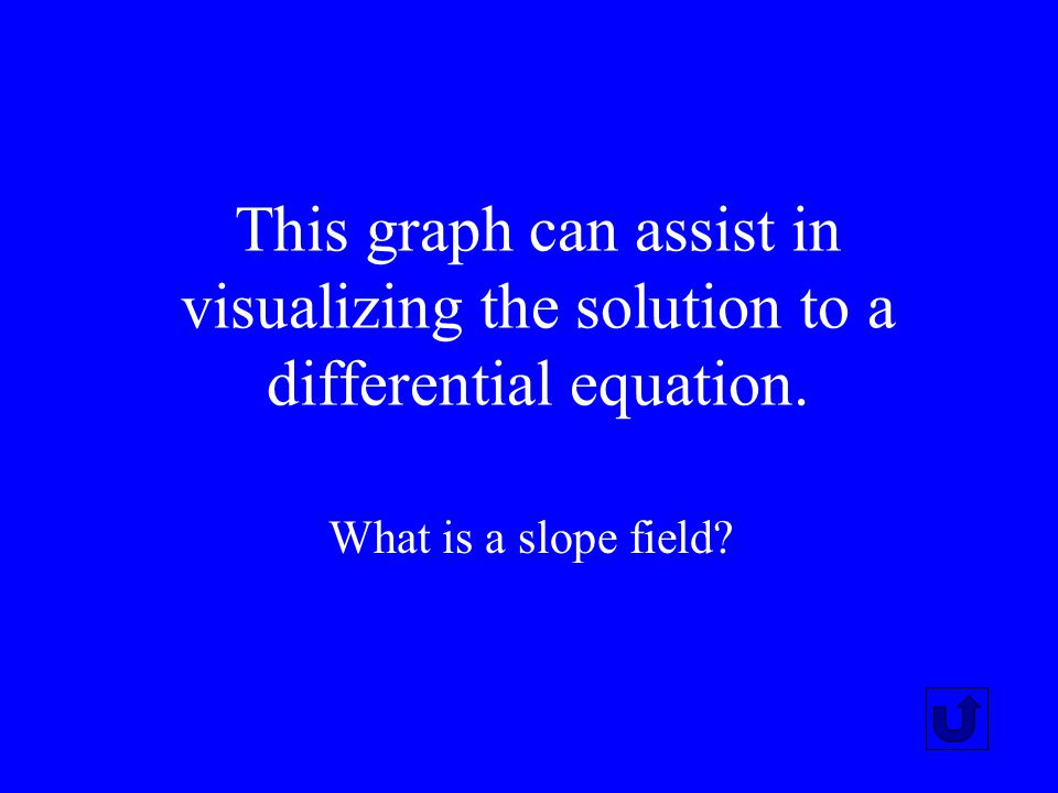 This graph can assist in visualizing the solution to a differential equation.