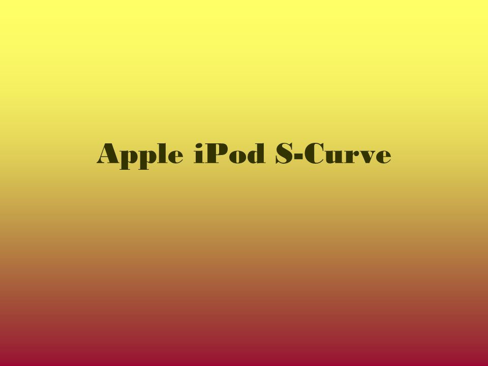 Apple iPod S-Curve