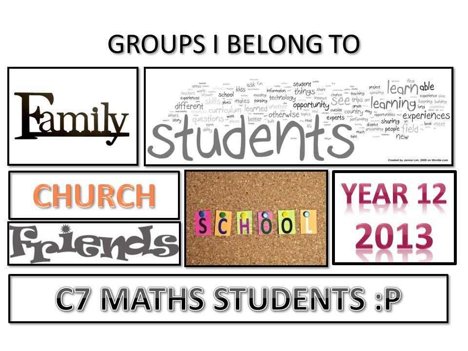 CHURCH C7 MATHS STUDENTS :P