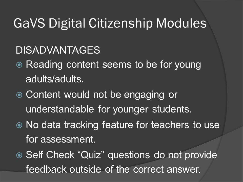 GaVS Digital Citizenship Modules
