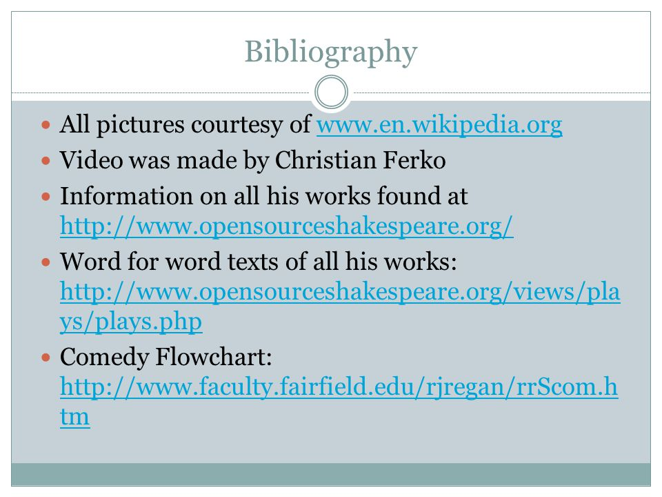 Bibliography All pictures courtesy of