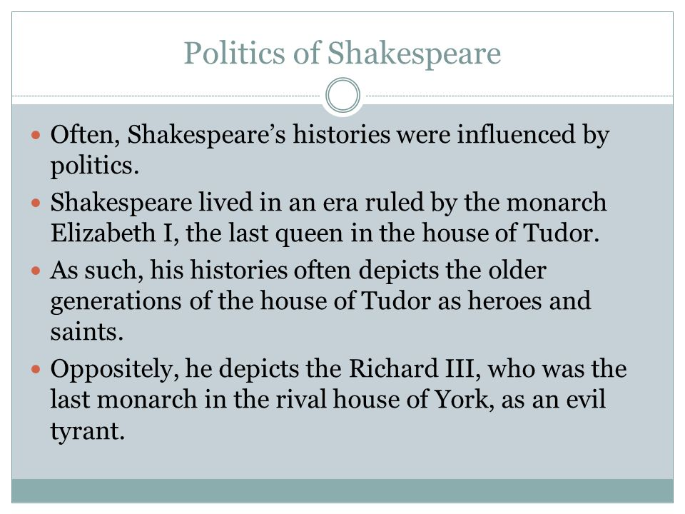 Politics of Shakespeare