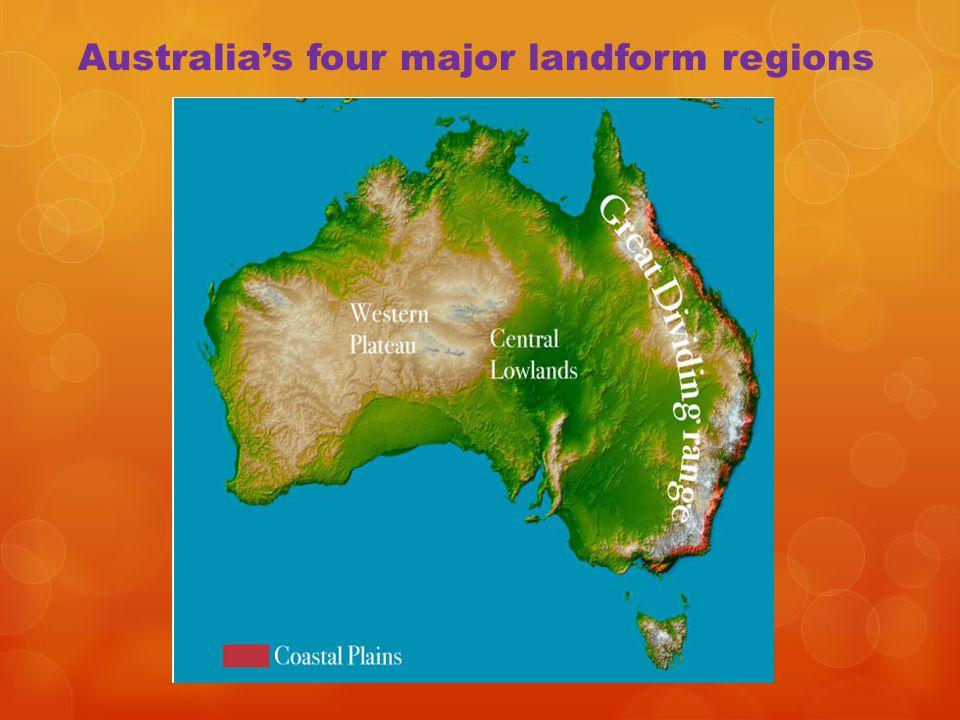 Australia's four major landform regions