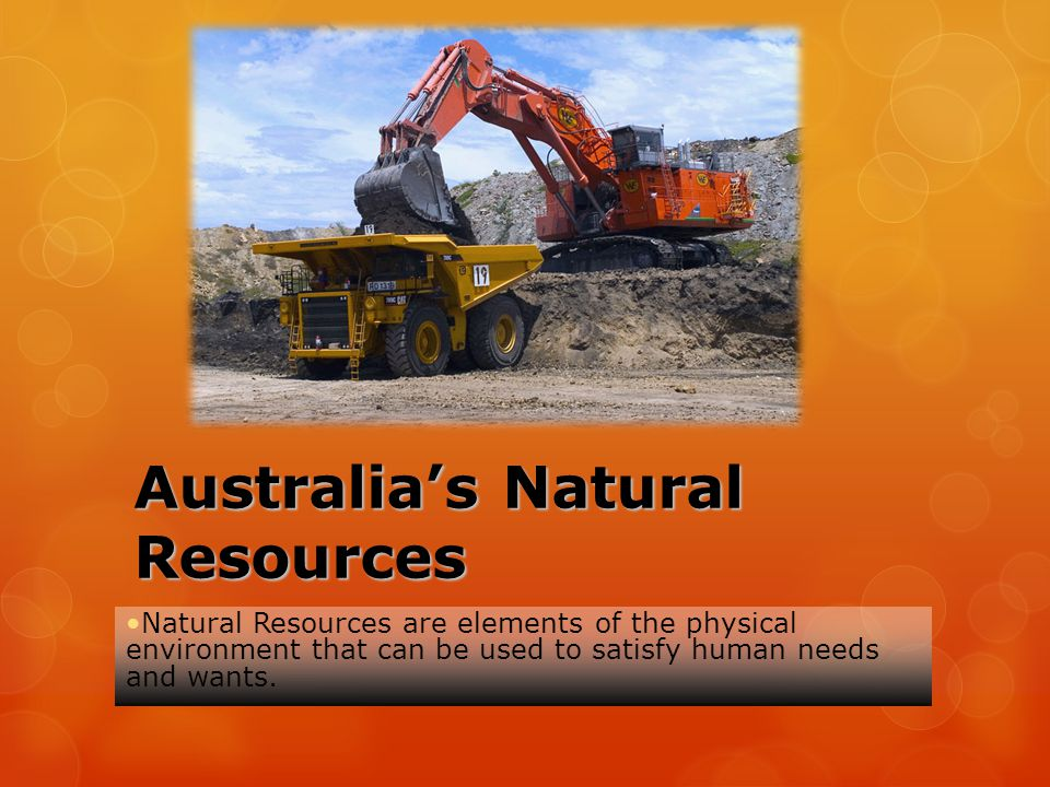 Australia's Natural Resources