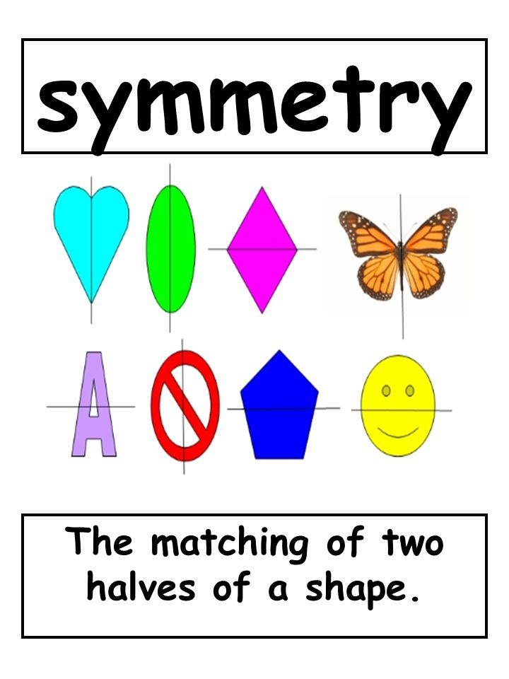 The matching of two halves of a shape.