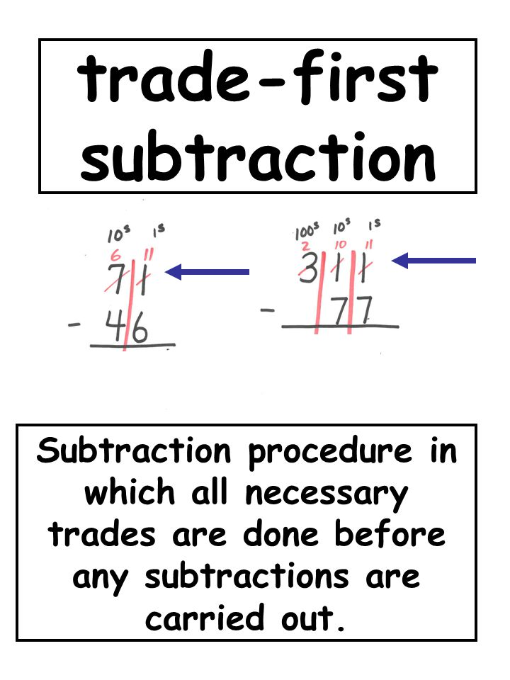 trade-first subtraction
