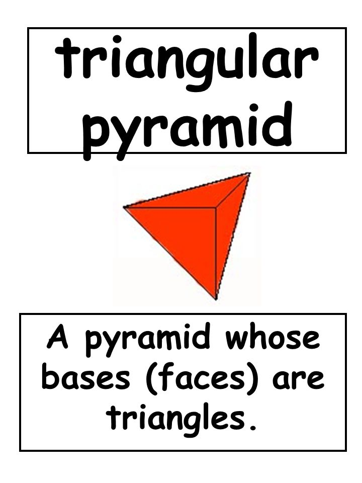 A pyramid whose bases (faces) are triangles.