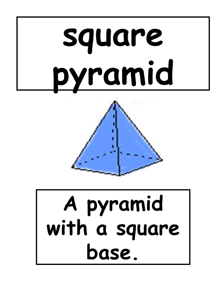 A pyramid with a square base.