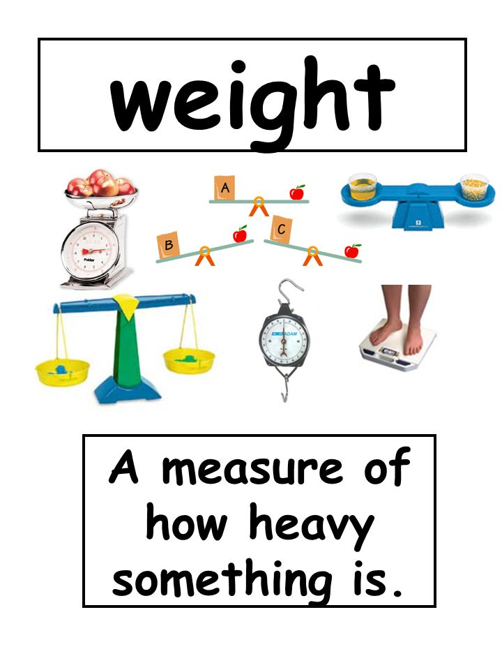 A measure of how heavy something is.