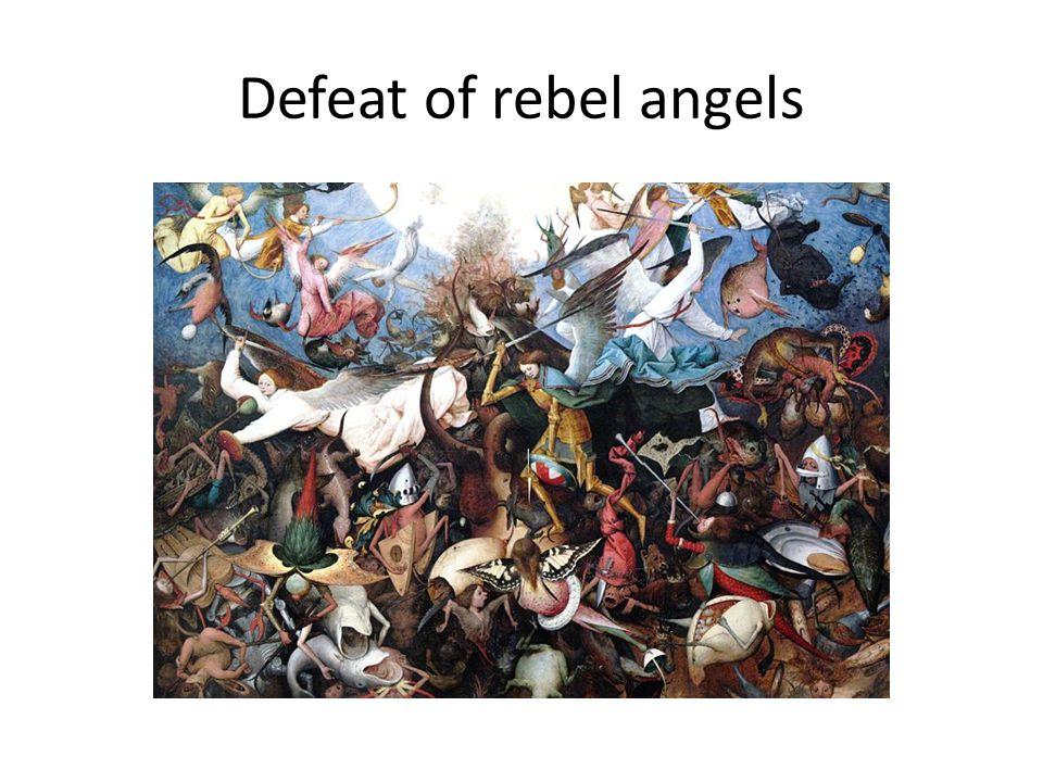 Defeat of rebel angels