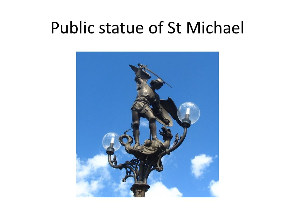 Public statue of St Michael