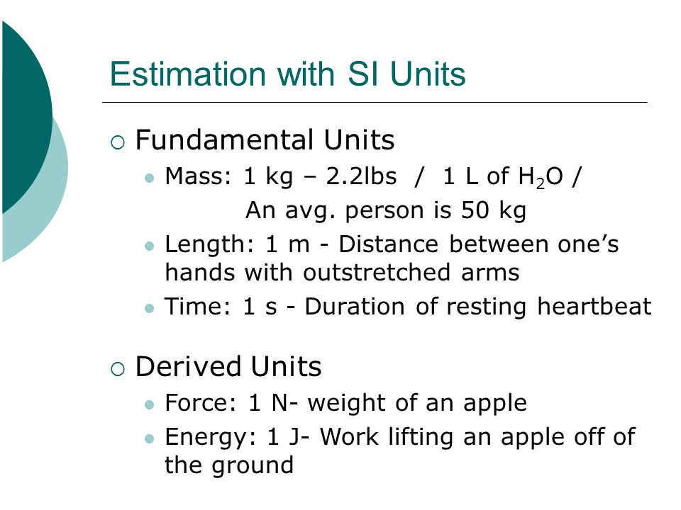 Estimation with SI Units