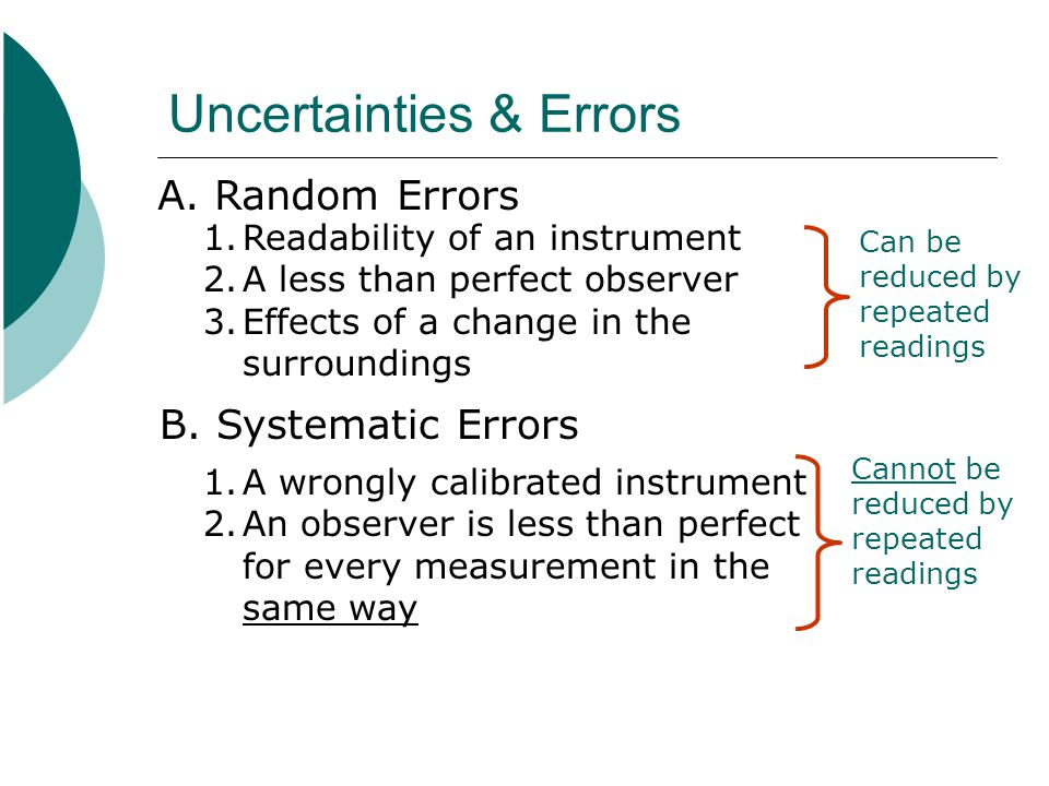Uncertainties & Errors
