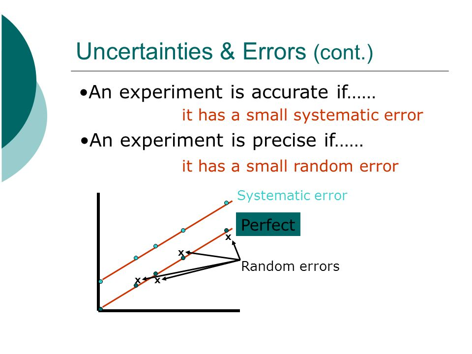 Uncertainties & Errors (cont.)