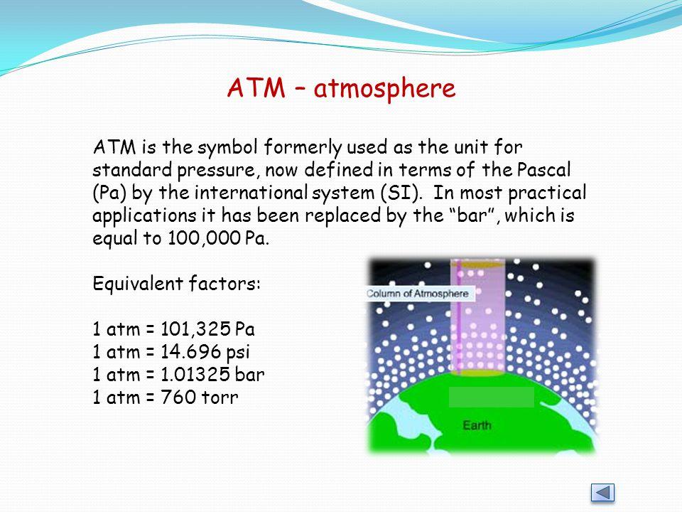 ATM – atmosphere