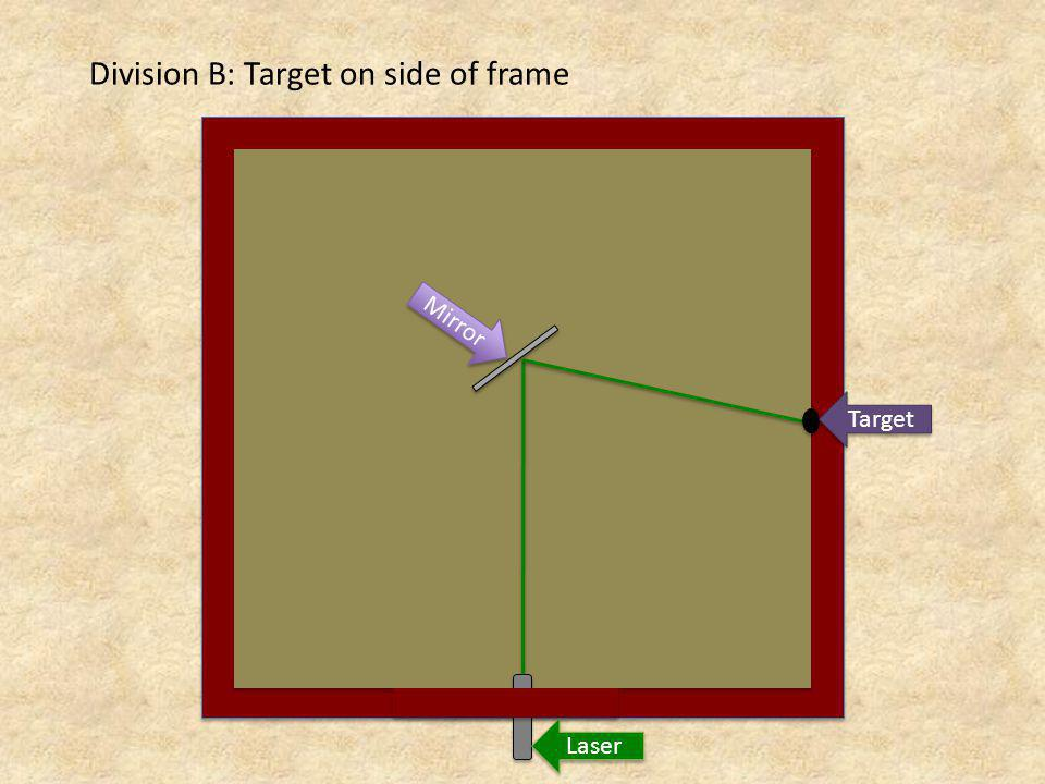Division B: Target on side of frame