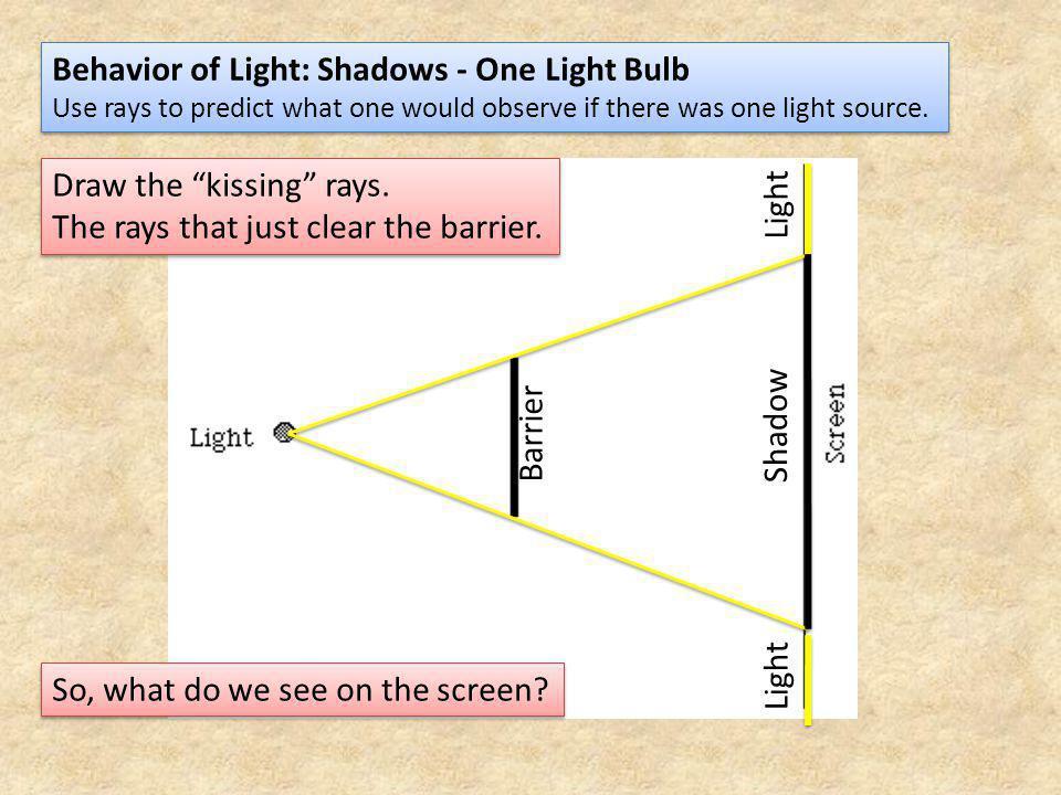 Behavior of Light: Shadows - One Light Bulb