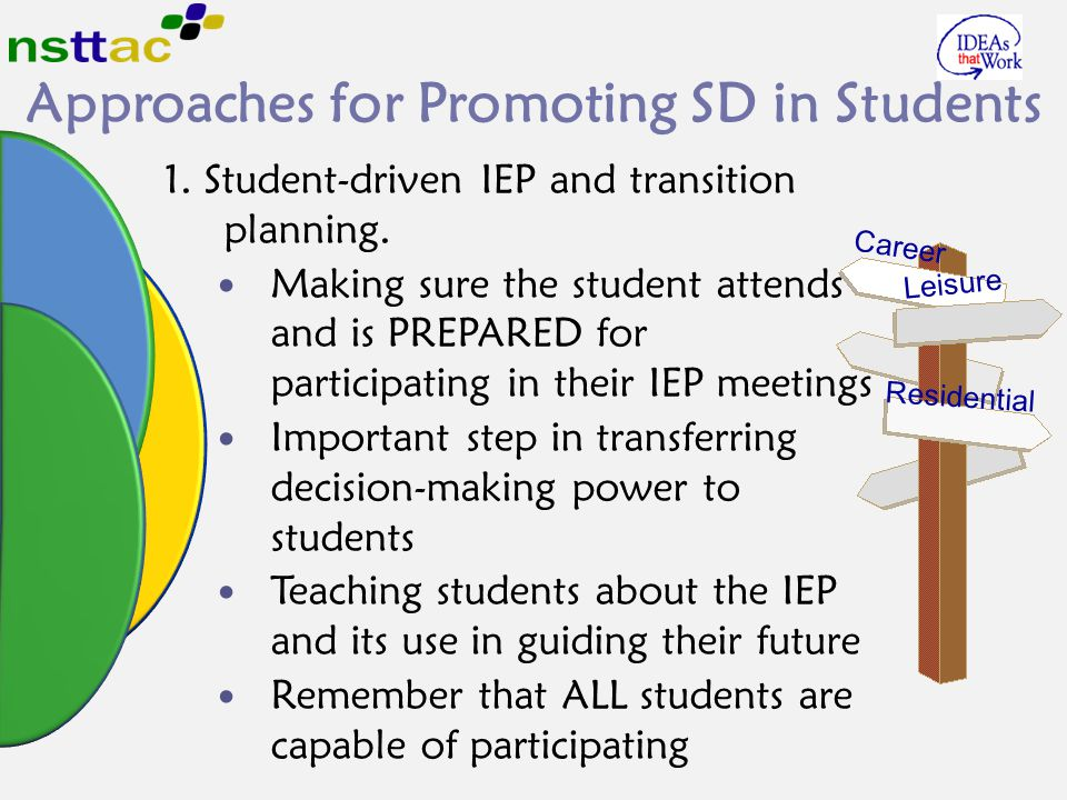 Approaches for Promoting SD in Students
