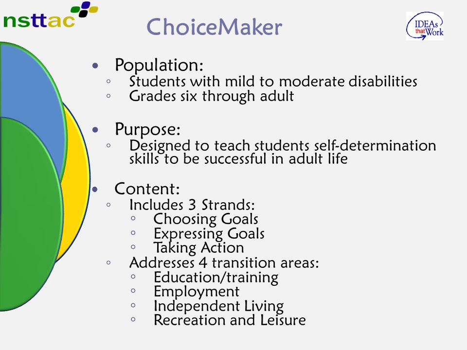 ChoiceMaker Population: Purpose: Content: