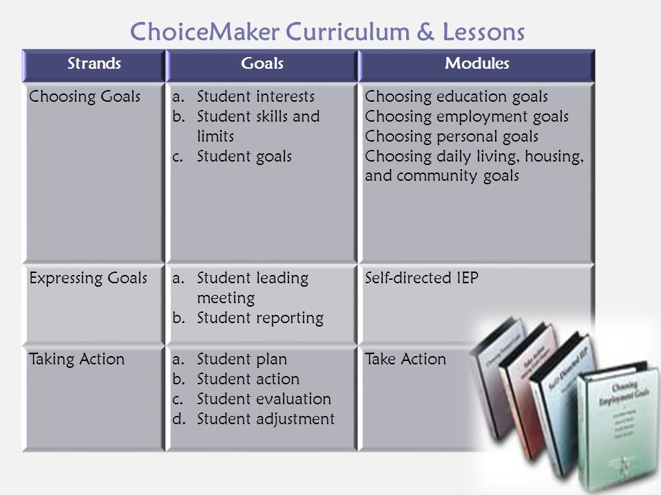 ChoiceMaker Curriculum & Lessons