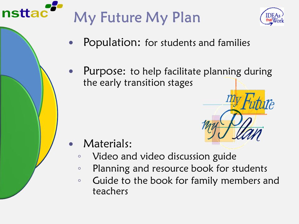 My Future My Plan Population: for students and families