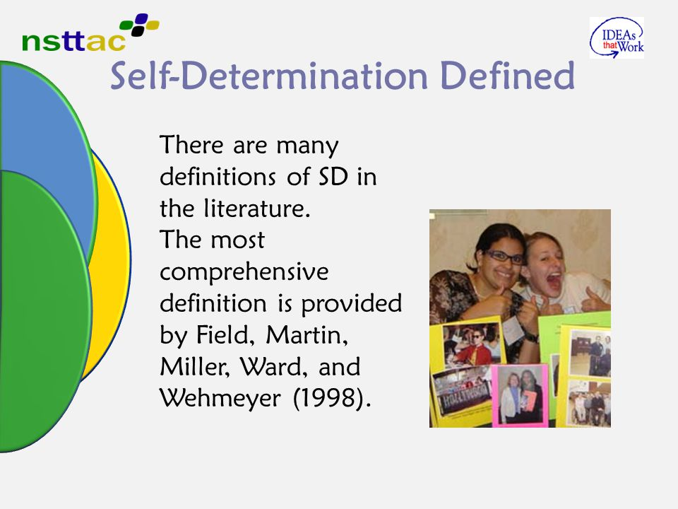 the exceptional education through self determination This preliminary study investigated 118 special education doctoral students' knowledge of and attitudes toward self-determination in addition, this study examined the relationship between self-determination coursework and special education doctoral students' perceptions of how well they were.