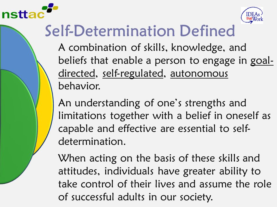 Self-Determination Defined